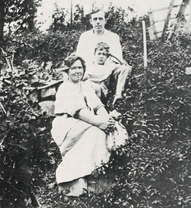 Lester with husband Bernard Rowntree and son Cedric. This and the photograph on the next page were provided by the California Academy of Sciences.