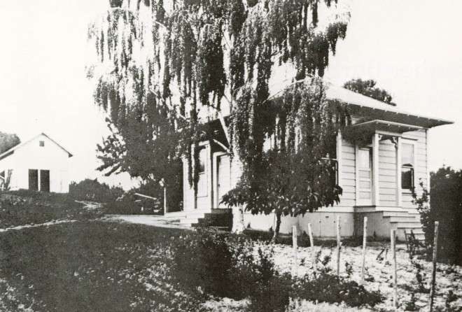The Farm cottage, still standing.