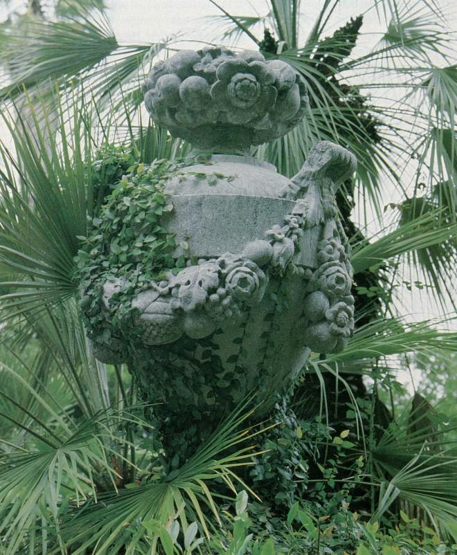 Vase in the palm garden.