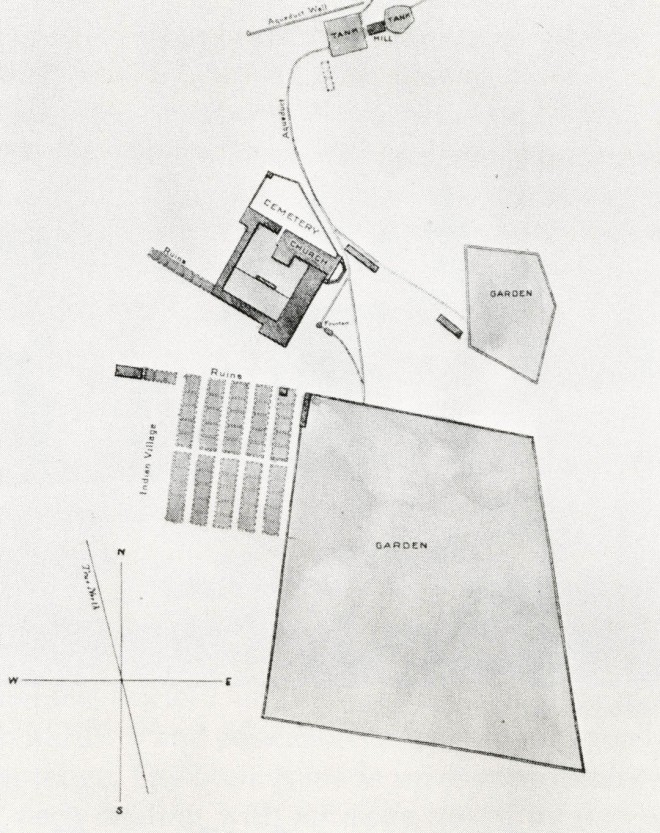 Plan of Mission Santa Barbara