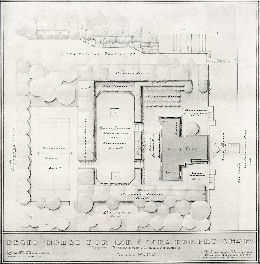 Undated Plan By Eckbou0027s Teacher, H.L. Vaughan, And His Wife, Adele Vaughan,