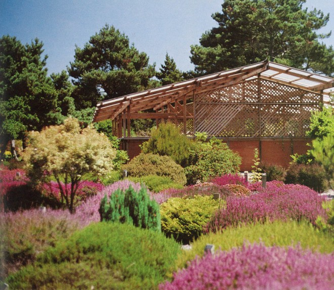 Heather garden and new plant display house. Photographs by Chet Boddy