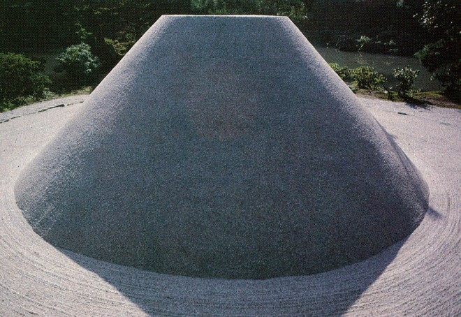 Giving form to a supply of sand, a utilitarian material becomes an object of contemplation. Ginkaku-ji, Kyoto