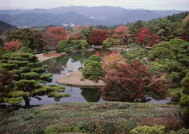View over northern Kyoto. Shukagu-in Imperial Villa, Kyoto