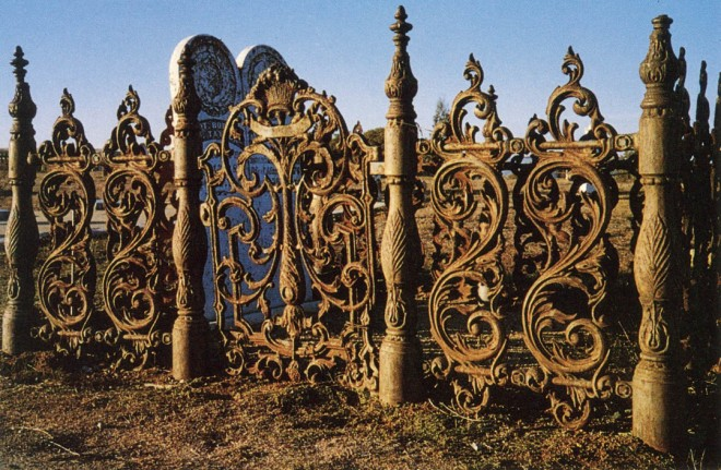 Prosperous communities maintained cemeteries that reflected a town's affluence. Long after decline in the local economy, an old cemetery, such as this one in San Juan Bautista, speaks volumes about the aesthetic ideals of an era. Author's photograph