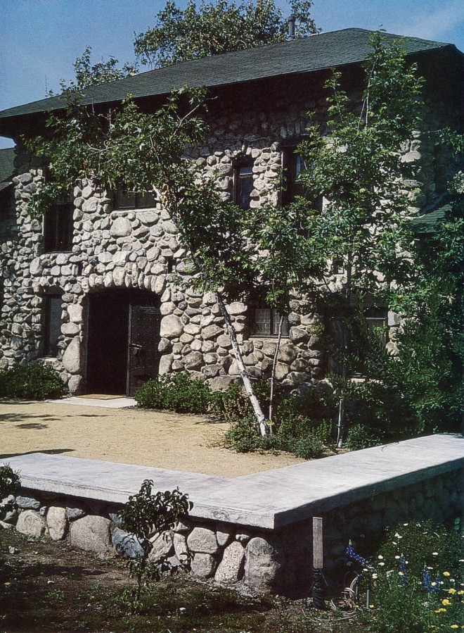 The cobble house that historian and editor Charles Lummis built near Pasadena is now, appropriately, home to the Historical Society of Southern California. The garden has been designed, with equal appropriateness, as a model of waterwise landscaping. Author's photograph