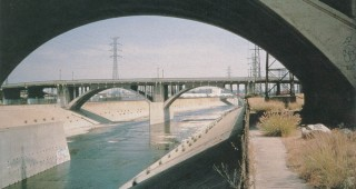 A typical concrete channel of the Los Angeles River. Photographs courtesy of North East Trees