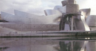 A Pacific Horticulture destination for 2002: the Guggenheim Museum in Bilbao, Spain—a building seemingly wrapped in silver. Author's photograph