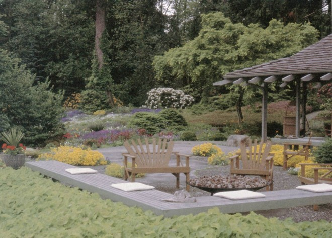 The terrace at the Chase Garden in Orting, Washington