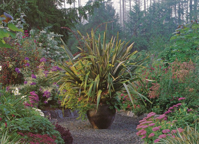 In the Heronswood Garden, Kingston, Washington, Dan Hinkley and Robert Jones have created an exuberant garden of horticultural treasures within a simply structured space. Photo: Richard Hartlage