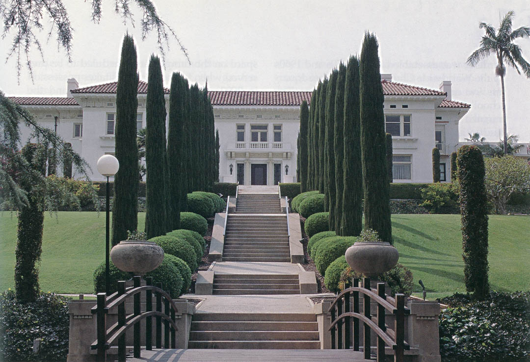 The Avenue Of Italian Cypress Cupressus Sempervirens Leading To Merritt House