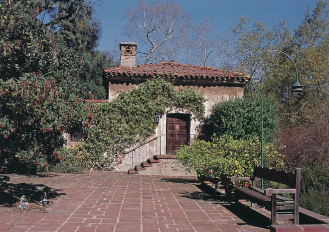 Entry terrace at The Old Mill, San Marino. Author's photographs