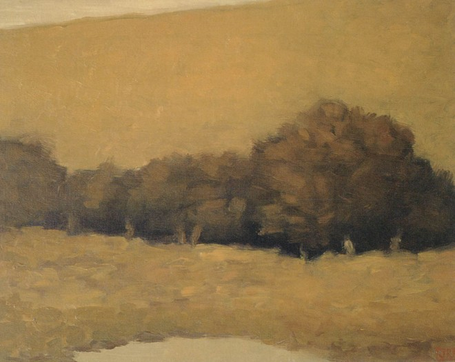 Summer Oaks. Pastel by John McCormick