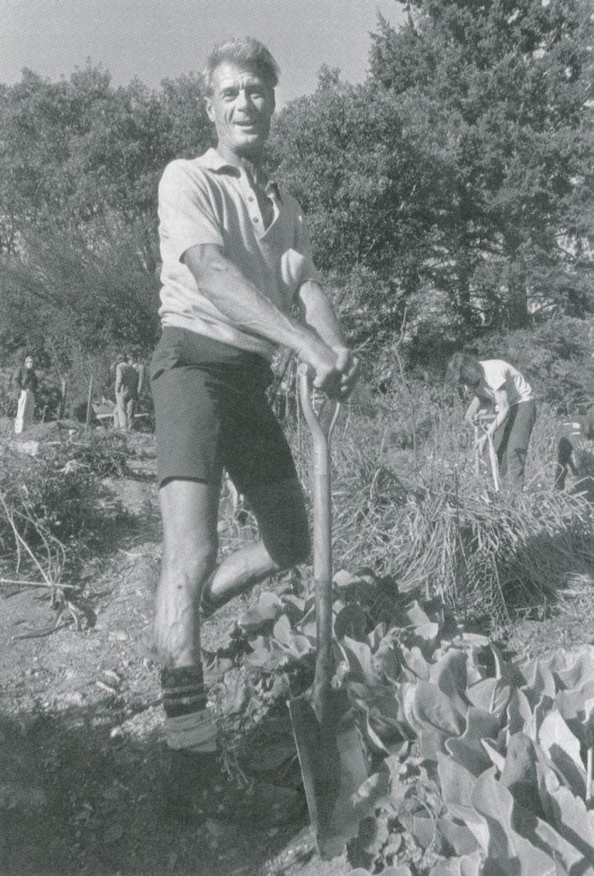 Alan Chadwick in the Student Garden Project, 1972. Photograph by UCSC Photography