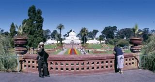 A panoramic view of the historic Conservatory of Flowers in its Victorian setting in San Francisco's Golden Gate Park. Photographs by Kevin Frest, except as noted
