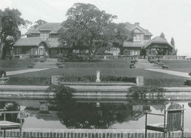 Green Gables from the lily pond, estimated to be ca 1930s. Photograph courtesy Environmental Design Archive, UC Berkeley