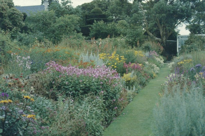 Garden paths are about delightful journeys, whether they be straight and narrow (and thus goal oriented), as seen above…