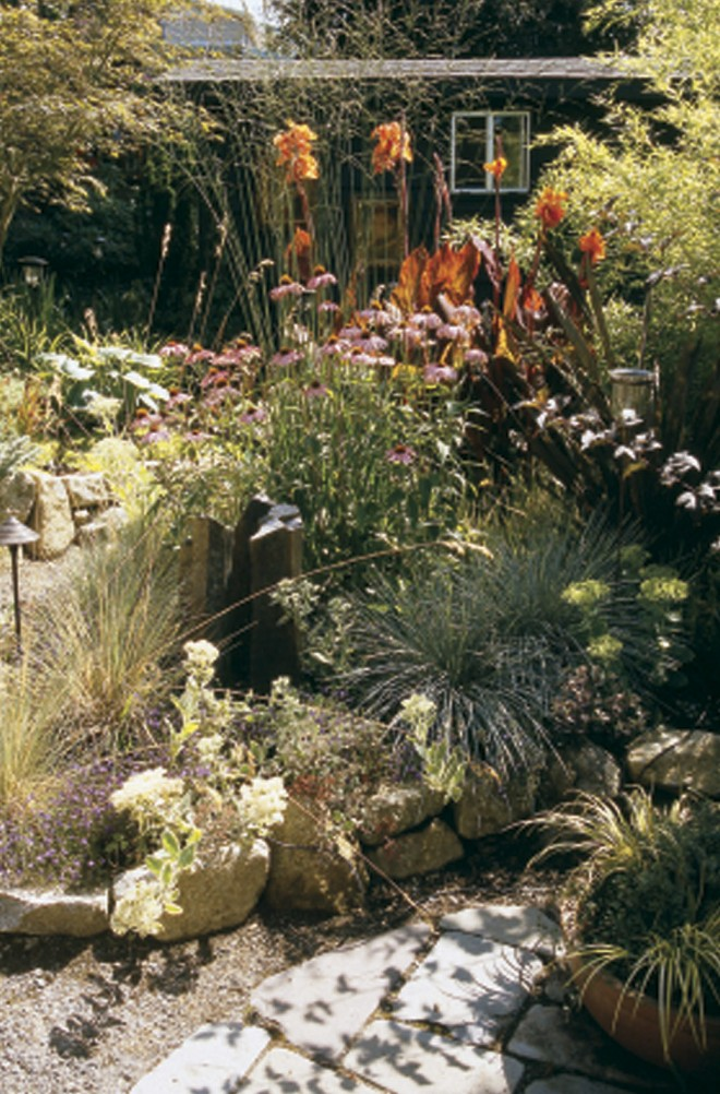 Know where it's hot and dry: plants in this west-facing Seattle garden (by Tim Moshier of Cambium Landscape) thrive in a sun-drenched environment. Photographs by Debra Prinzing - See more at: http://www.pacifichorticulture.org/articles/seven-habits-of-a-highly-successful-gardener/#sthash.opsJ2RFc.dpuf