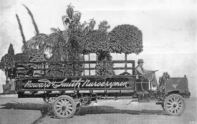 Howard & Smith Nursery truck. Photographer unknown