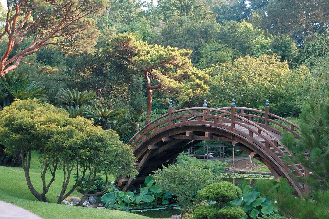 Moon Bridge Huntington Botanical Gardens Anese Garden Photograph By James Folsom See More