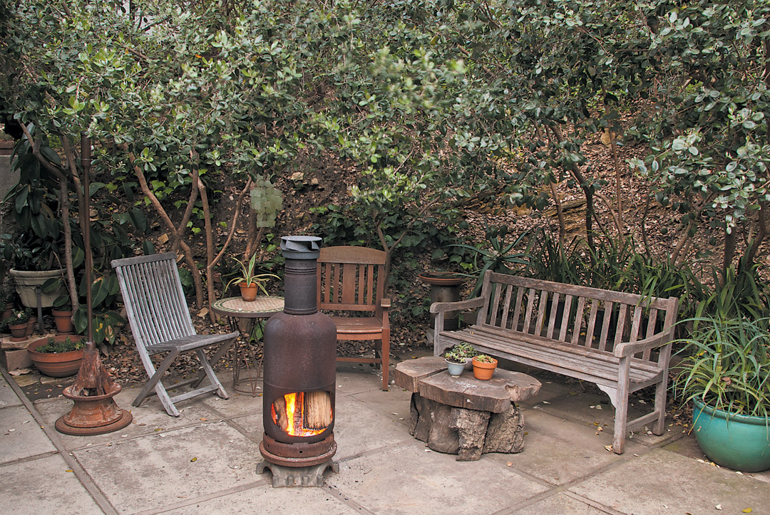 Good Lower Patio South Warmed By A Small Chiminea
