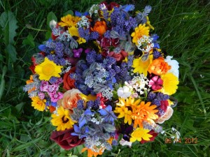 A tasty bouquet of edible, organically grown flowers. Photo: Winnie Pitrone