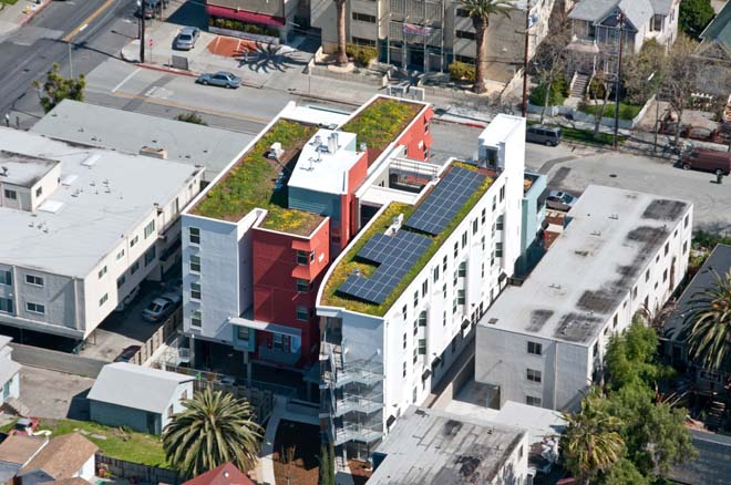 Casa Feliz green roof. Photo: Steve Prohl Photography.