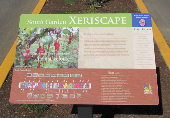Interpretive signs support the educational value of the Knox Street landscape. Photo: Neil Bell