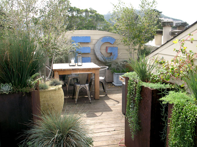 Beth Mullins Of Growsgreen And Homeowner Richard Hosek Collaborated On The  Design Of This Rooftop Garden