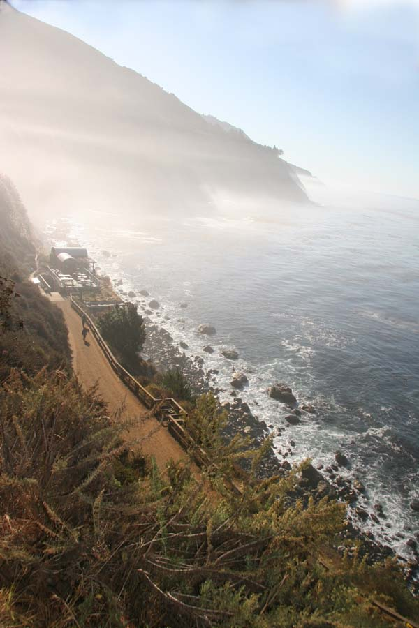 Rugged cliffs and the Pacific dominate the Esalen Hot Springs setting. Photo: Daniel Bianchetta