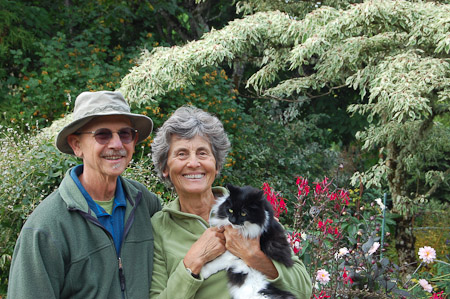 Ernie and Marietta O'Byrne with Zoey. Photo: courtesy of Northwest Garden Nursery