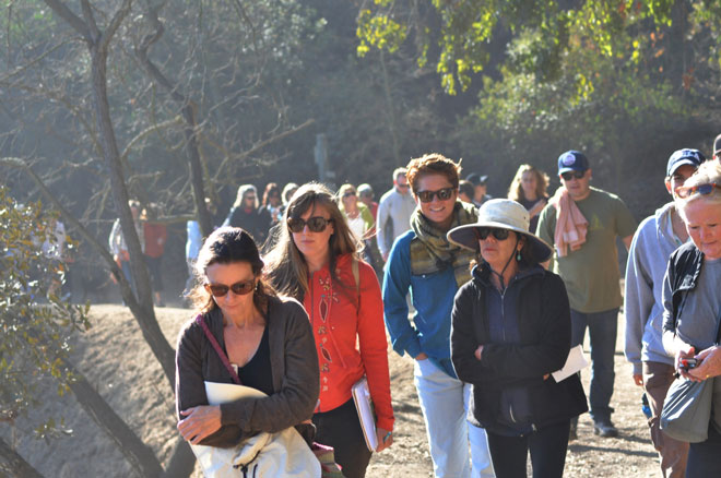 A guided walk through Coldwater Canyon  Park. Photo: Leigh Curran