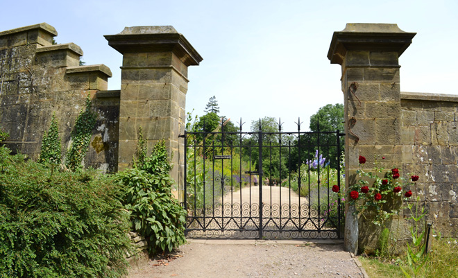 Gater to the walled garden at Gravetye Manor. Photo: Nancy Carol Carter