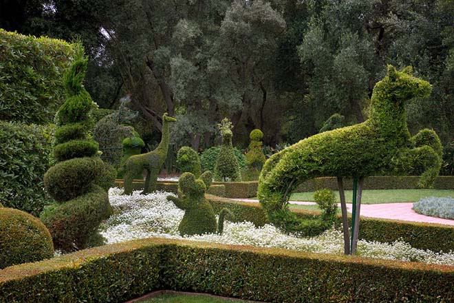 Whimsical topiary features at Lotusland. Photo: courtesy of Ganna Walska Lotusland