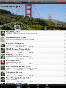 California Gardens garden app by Sutro Media