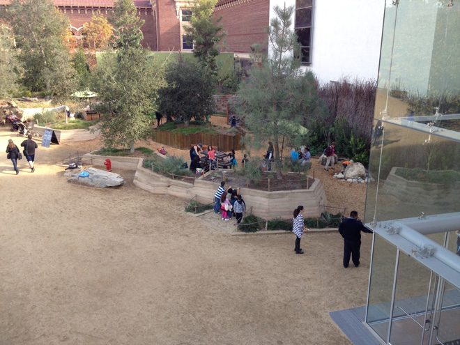 Interactive exhibits in the Get Dirty Zone lure kids of all ages into exploring Nature Gardens. Photo: Carol Bornstein