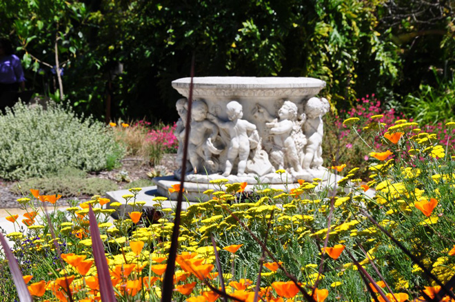 The Easterbrook fountain in the Mediterranean Garden was a gift to the City of Oakland in 1914.  Photo: Tora Rocha