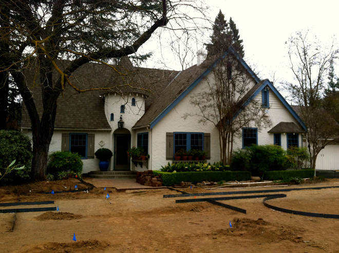 The renovated landscape begins to take shape. Photo: Kirsten