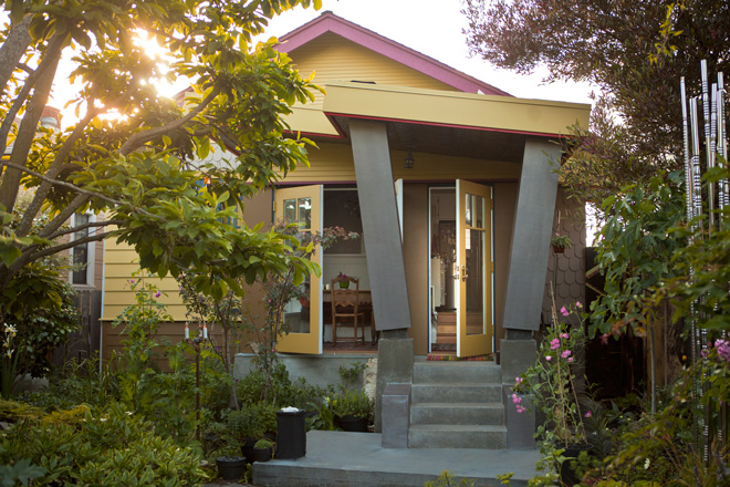 Renovations on the typical craftsman bungalow integrate house and garden and have changed the way Watts and her husband live in both spaces. Photo: MB Maher