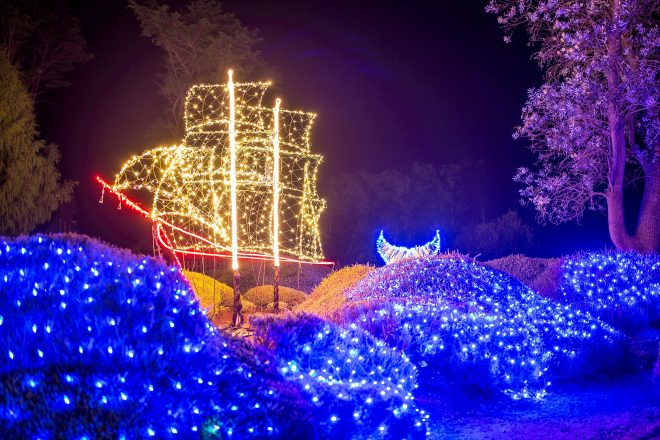 Mendocino Coast Botanical Garden Festival of Lights. Photo: Brendan McGuigan