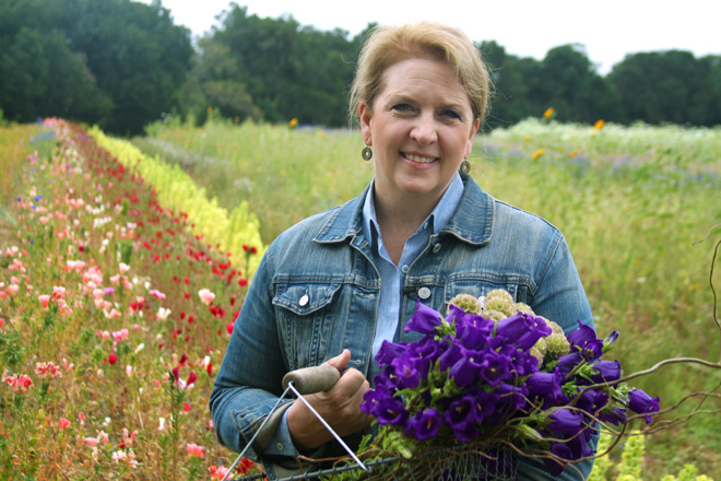 American grown cut flower advocate Debra Prinzing. Photo: courtesy of Garden Tribe.