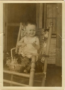 Judging from this baby picture, Brewster's future might be seen as something of a foregone conclusion. Photo: from the Rogerson Clematis Collection Archives.