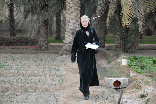 The author, Kate Frey, on a tour of organic farms in the kingdom.  Photo: Benjamin Frey