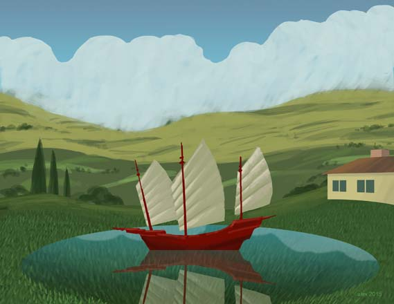 Lake Oxnard. Illustration: Alex Stevens
