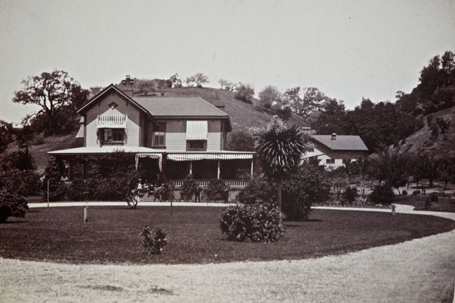 Sunnyside, the estate of George and Annie Ross Worn, was constructed in 1864 on a portion of the 8,877-acre Rancho Punta de Quentin owned by Annie's father, James Ross.  Photo: courtesy of the Ross Historical Society