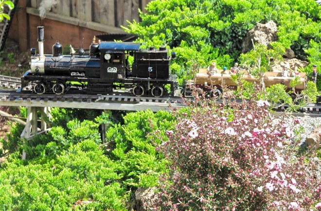 Skilled railroad gardeners strive for plausibility in their completed designs. Photo: Nancy Norris