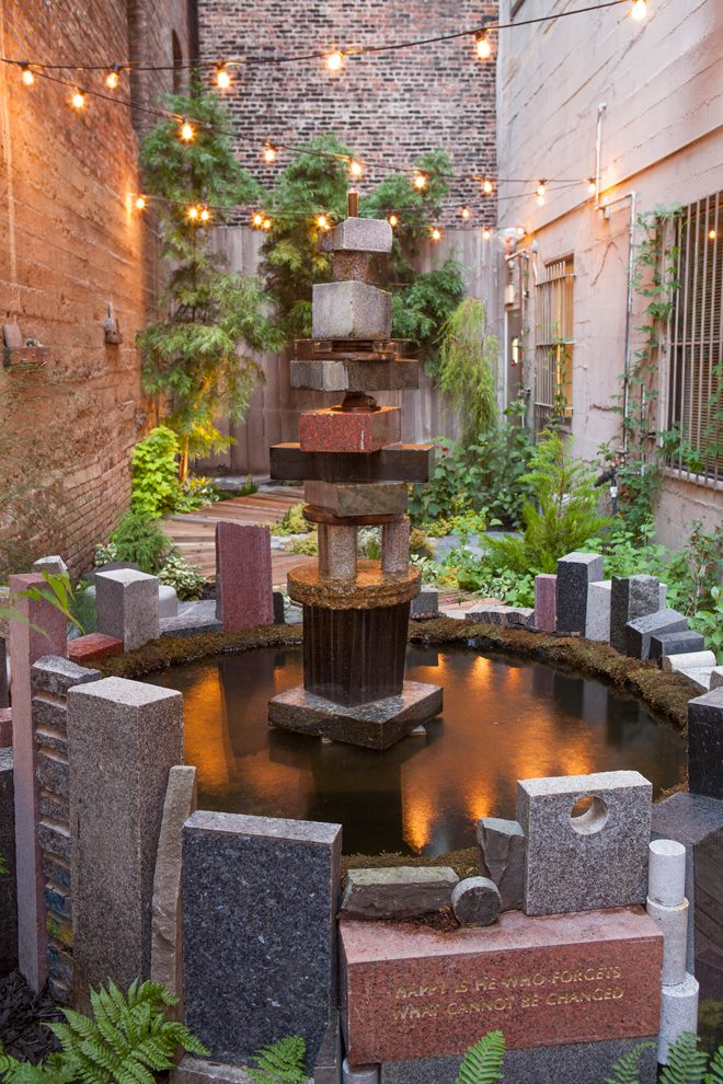 The Hummingbird Garden at Hotel Mark Twain, designed by the Organic Mechanics. Photo: Saxon Holt