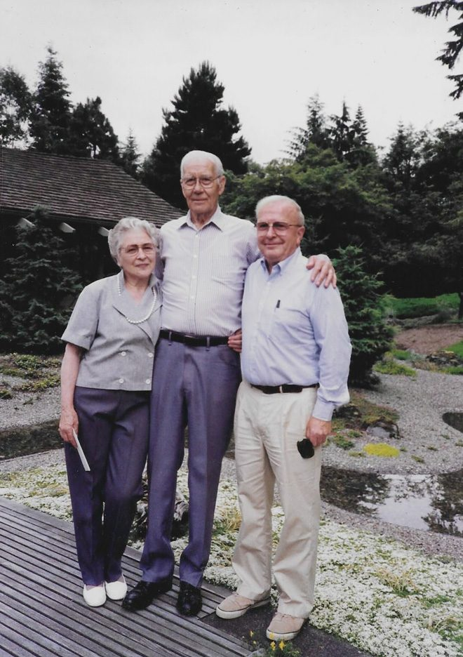 The collective vision of Ione and Emmott Chase and Rex Zumwalt (far right) would turn the Chase Garden into one of the designer's most enduring and recognized contributions to the dialogue of landscape design. 