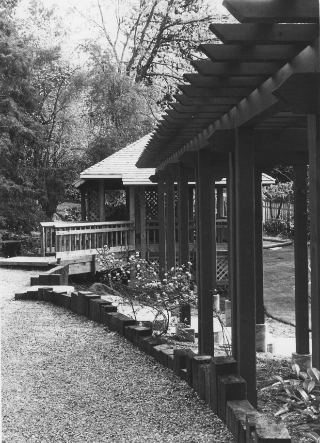 Rex designed this pergola and gazebo for a private residence in Tacoma, Washington. Photo: Rex Zumwalt