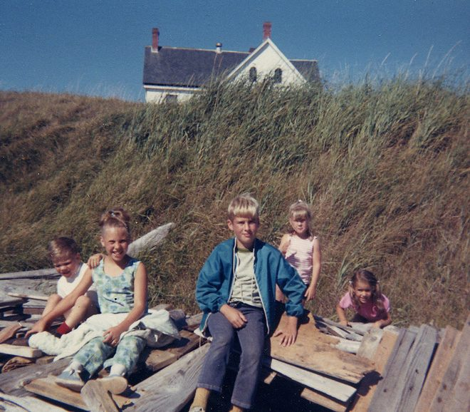 Building driftwood forts and wandering Whidbey Island circa 1968.  Photo: Edwards family album